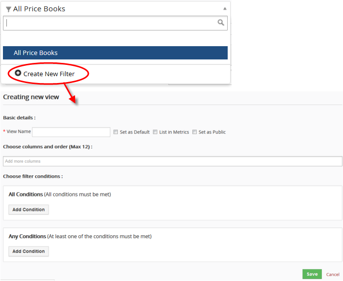 Use Search Option And Filter Option In CRM, Customer