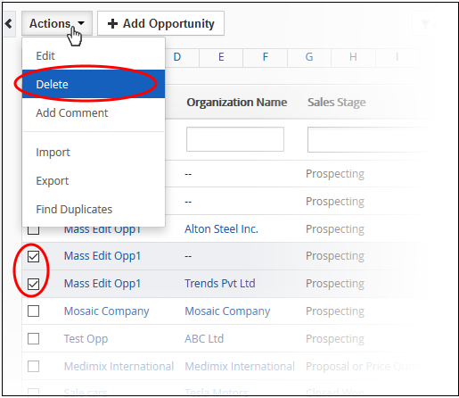 Manage Your Opportunities Be: Mass Management Of Opportunities, CRM Opportunity