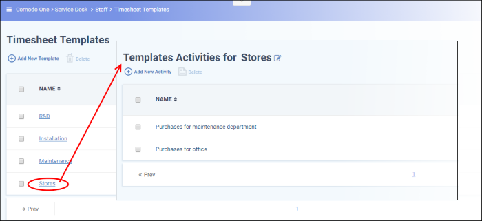 Time sheet templates staff management software service desk the template activities interface for the selected template will open maxwellsz