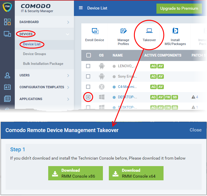 Step 1 – Login To Your Comodo One Account And Download The