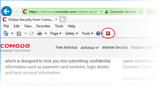 Comodo Online Security - Introduction, Web Filtering