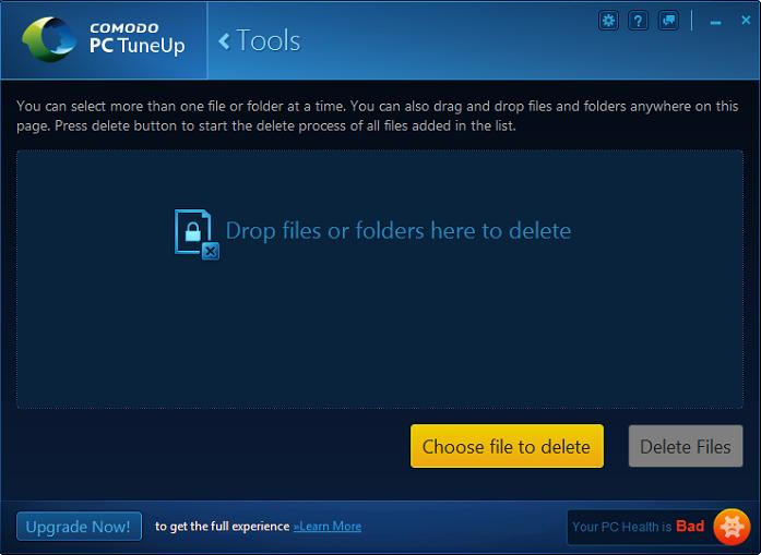 Force Delete, PC Optimizer, Best PC Tuneup Software | Comodo