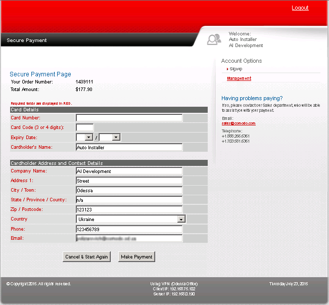 Complete Your Order Comodo Ssl Certificate Installer Comodo