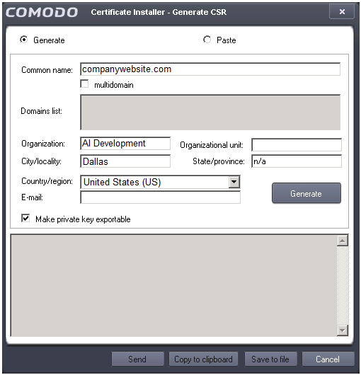 Tutorial, Certificate Signing Request, Install Comodo SSL ...
