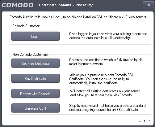 Download, Install and Run the Utility, SSL Certificate, Comodo SSL ...
