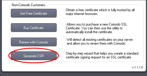 Generate a CSR, SSL Certificate, Comodo SSL Certificate Installer