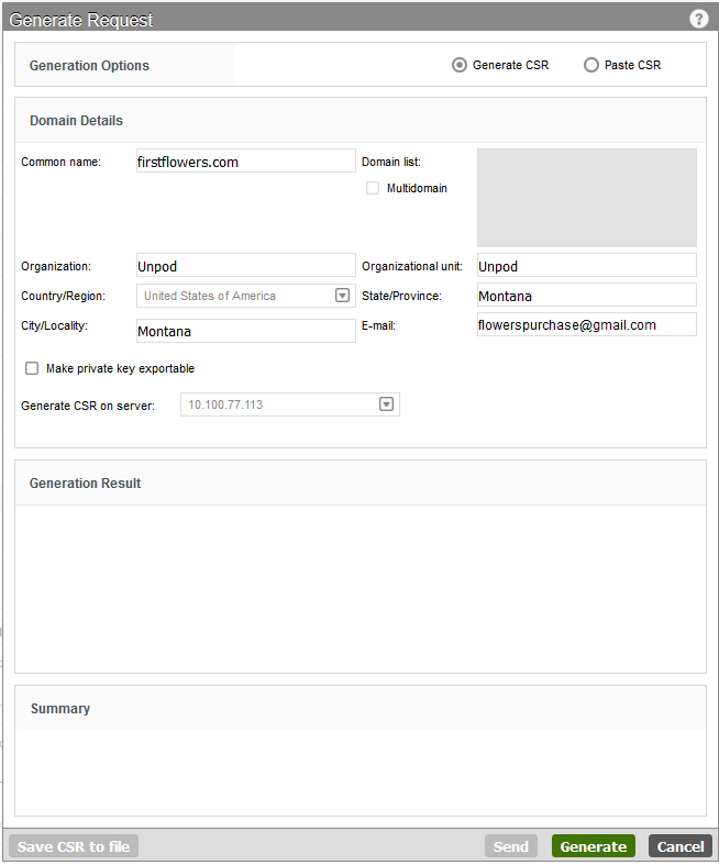 Step 3 Generate And Submit A Csr Comodo Certificate Signing