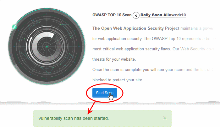 OWASP Top 10 Vulnerability Scans, Web Vulnerability Scanner