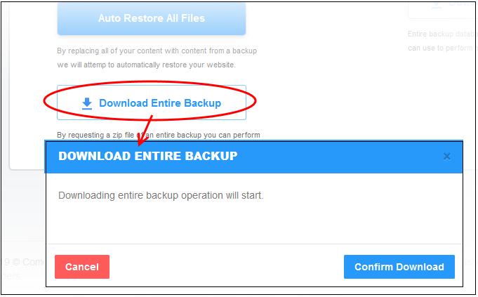Restore And Download Website Files, Website Scans, Web