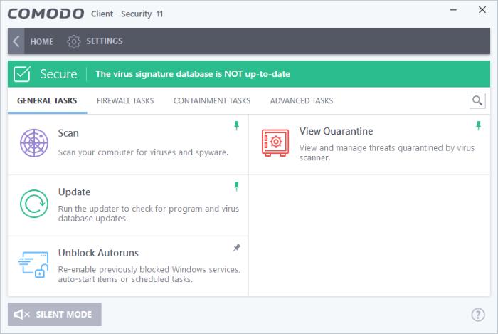 Comodo Client Security - Introduction, Antivirus Protection   Client