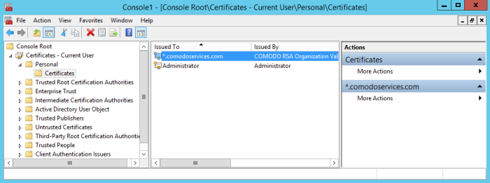 Export Certificate For Use On Endpoint Manager and Tigase Server, On