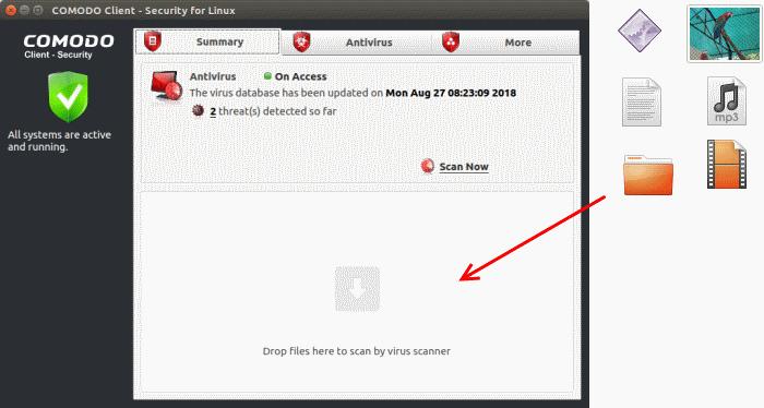Run an Instant Antivirus Scan on Selected Items, Custom Virus Scan