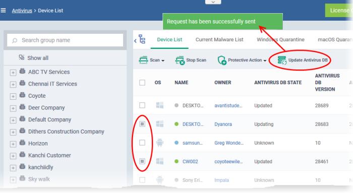 comodo antivirus signature database download