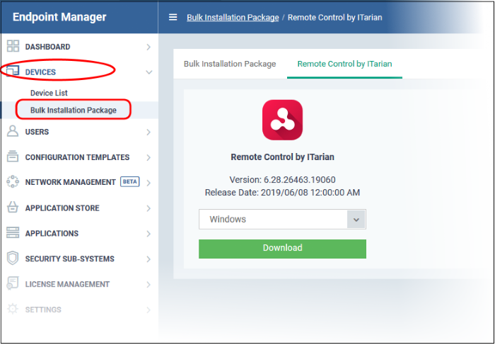 Download and Install The Remote Control Tool, Device Manager