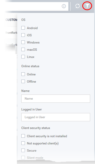 View Security Events by Files, Endpoint Manager, Malware