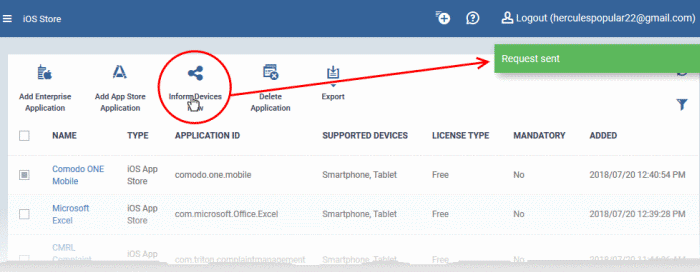 Add iOS Apps And Install Them On Devices, Managed Device, Endpoint