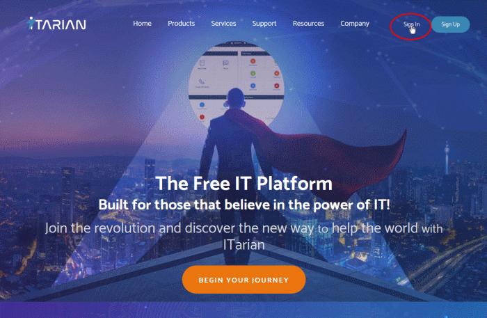 Login To Your Account, Online Help Desk Software, ITarian, ITarian