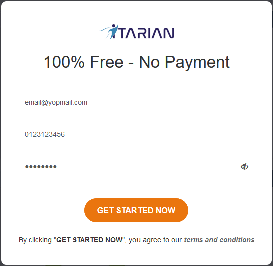 Sign up for an ITarian Account, Ticket Management System