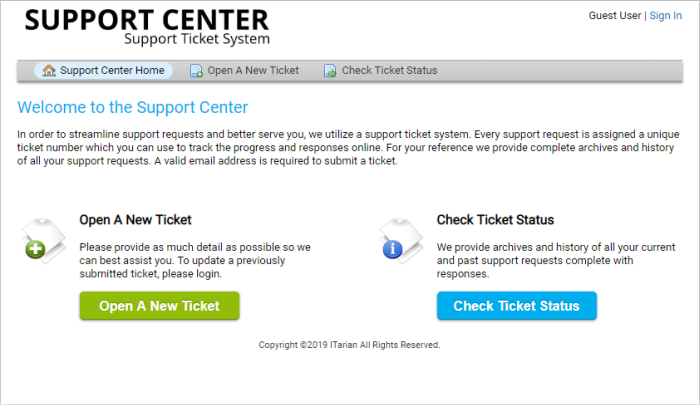 Introduction To Service Desk Module, Tickets System