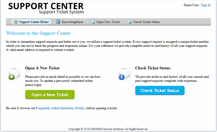 Configure Your Support Center Page, Support Ticket System ITarian